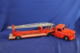 "Structo Pressed Steel Fire Truck 34"" Long"