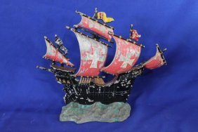 "Cast Iron Ship Door Stop 12"" Tall"