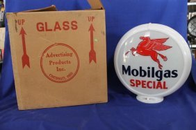 Mobilgas Special New Gas Pump Globe Glass Insert In