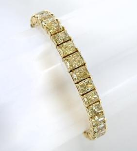 Fancy Yellow And Intense Yellow Diamond Bracelet