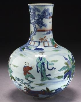 Chinese Qing Porcelain Vase Depicting