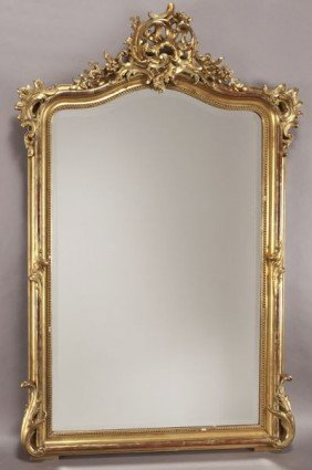 Louis XV Style Carved Gilt Mirror