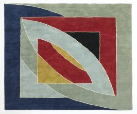 "Frank Stella, ""River Of Ponds"" Woven Tapestry."