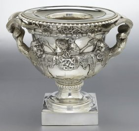 "Silverplate Urn After The ""Warwick"" Vase,"