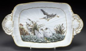 "Meissen Porcelain ""Swan Service"" Two-handled Tray"