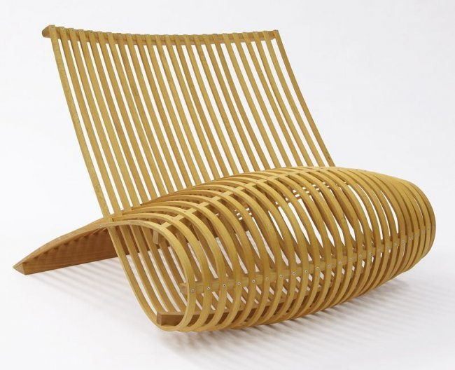 marc newson for cappellini modern wood chair lot 89