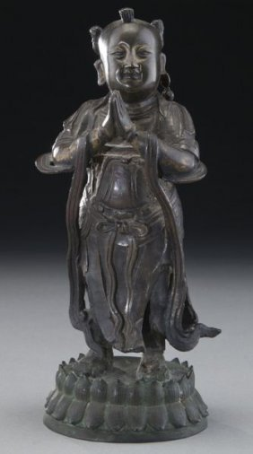 Chinese Ming Style Bronze Figure