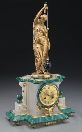 P.h. Mourey French Conical Pendulum Clock,