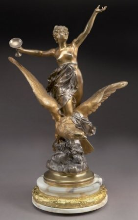 """Madrassi, """"hebe & The Eagle"""" Gilt And Silvered"""