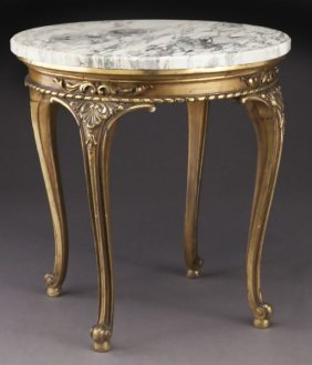 Belle Epoque Carved Gilt Wood Occasional Table