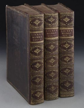 "John Locke ""the Works Of..."" In Three Volumes"