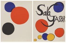 """Alexander Calder """"sala Gaspar"""" Color"""