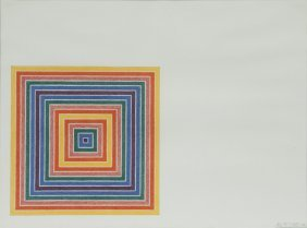 "Frank Stella ""cipango"" Color Offset Lithograph,"