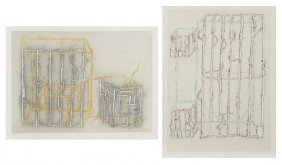 "Craig Kauffman ""untitled"" (two Works) One Color"