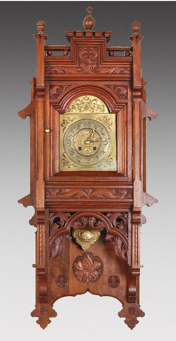 Wall Clock Art Nouveau : A gustav becker art nouveau wall clock lot