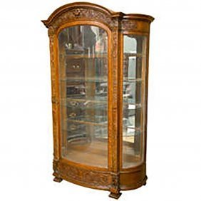 Horner Brothers Victorian Oak China Cabinet
