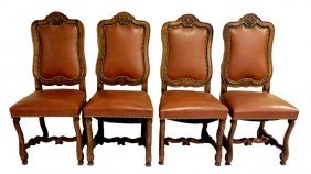 Set Of Jacobean Style Dining Chairs