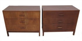 Pair Mid 20th Century Commodes