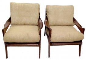 Pair Danish Modern Rosewood Chairs