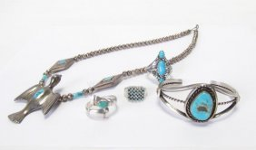 Group Of Southwest Sterling Jewelry