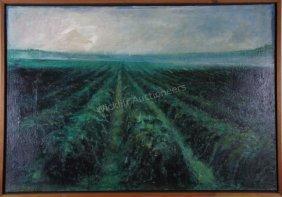 """Carol Rabenau 36x52 O/linen """"spring"""""""