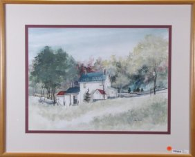 Martha Baker 18x24 Wc Rural Farmhouse