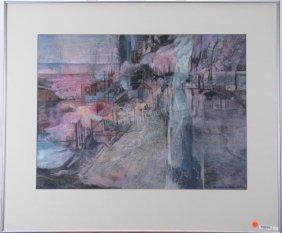 """Barbara Meeker 22.5x29 M/m """"land Patterns 21"""""""