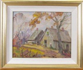 John Cowan Templeton 8x10 O/b Rural Farmhouse