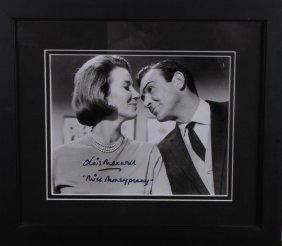 Lois Maxwell Signed Photo As Miss Moneypenny