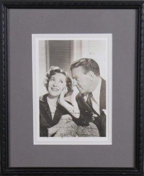 Gracie Allen, George Burns Signed Photograph