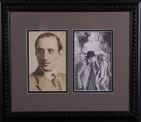 Basil Rathbone Signed Headshot As Sherlock Holmes