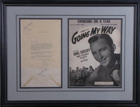 Bing Crosby Signed Letter, Movie Promo