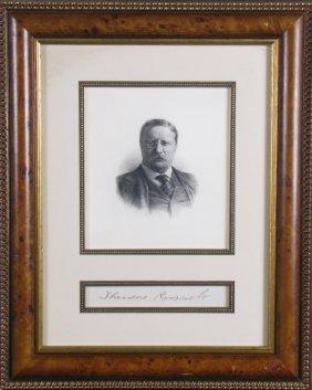 Theodore Roosevelt Image, Signature Card