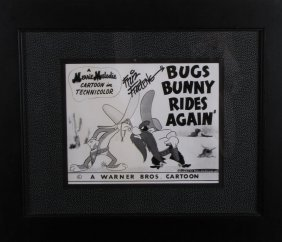 Friz Freleng Signed Bugs Bunny Photo