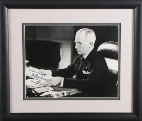 Harry Truman Signed Photograph