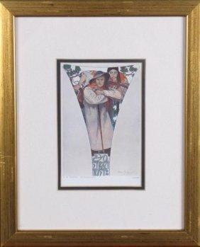 Alphonse Mucha Signed Print