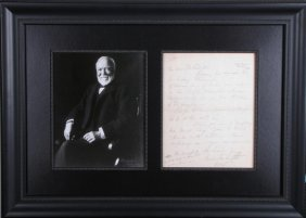 Andrew Carnegie Photo, Signed Letter