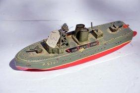 Vintage Tin Litho Torpedo Boat