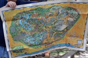 Vintage 1966 Walt Disney Park Map
