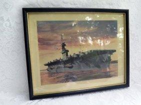 U.s.s Cape Esperance Naval Ship Art