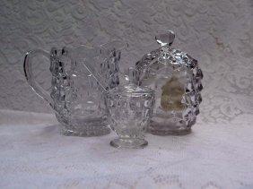 4 Piece American Fostoria Glass