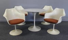 Eero Saarinen; Knoll Tulip Dining Set With Marble.