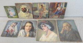 NEWMAN, Joseph. 8 Oil Portraits & Figure Studies.