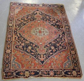 Antique Persian Sarouk Carpet.