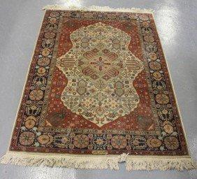 Vintage Signed Oriental Carpet.