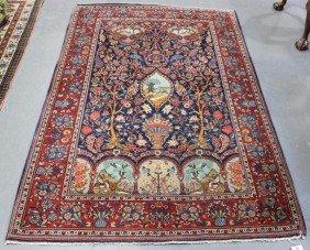 Vintage Oriental Garden Carpet.