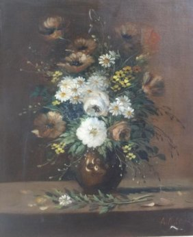 MICHEL, A. Possibly 19th C. O/C Floral Still Life.
