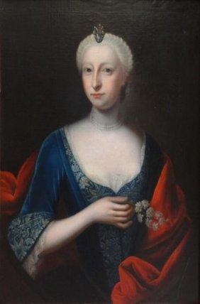 18th/19th C. O/C Portrait Of Distinguished Lady.