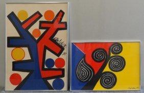 CALDER. 2 Color Lithographs.