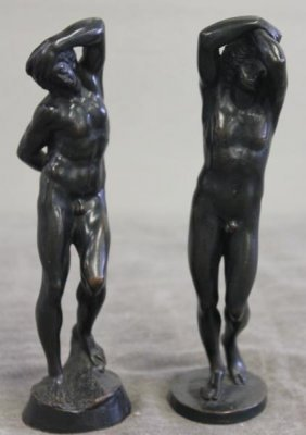 Pair Of Nude Figural Bronzes.